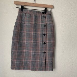 H&M Plaid Pencil Skirt